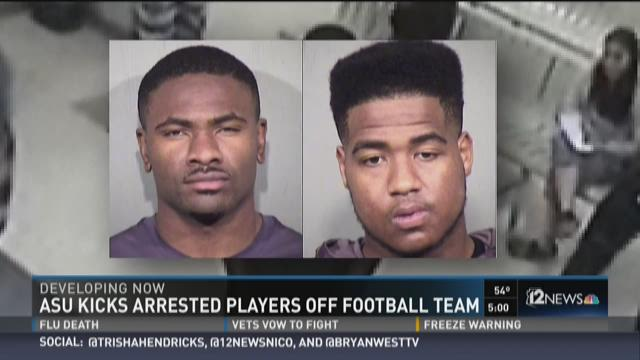 ASU football players arrested, kicked off team