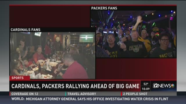 Cardinals, Packers rallying ahead of big game