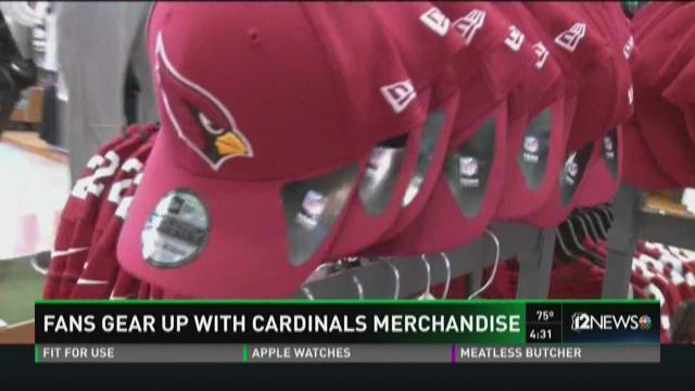 Fans are buying up Cardinals gear ahead of Sunday's NFC Championship game.