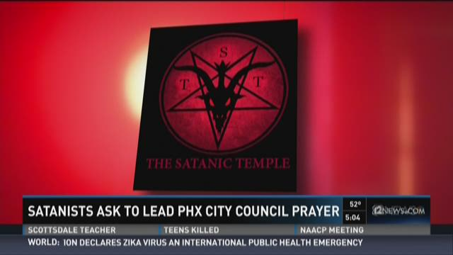 Stu De Haan, a leader of the Satanic Temple in Tucson