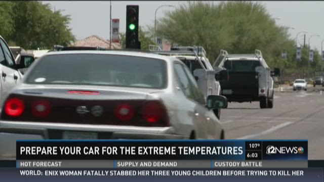 Prepare your car for the extreme temperatures