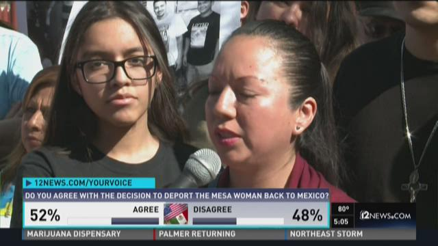 Deported Mesa mother back in Mexico morning after Phoenix protests