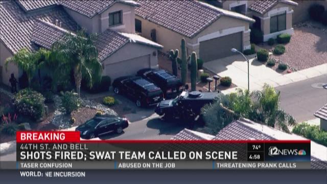 shot fired in phoenix swat called to scene