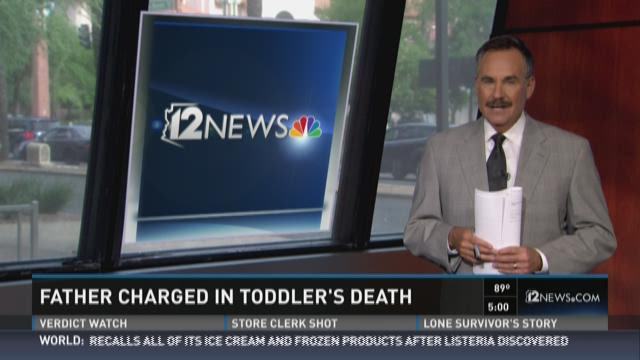 Phoenix father charged in toddler's hot car death