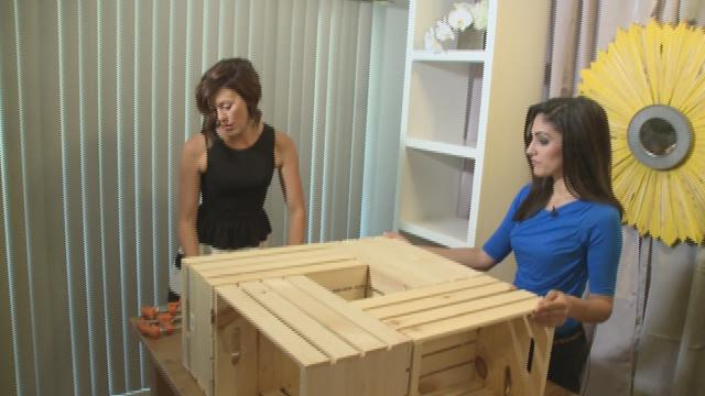 ... Barry Designs shows us how to turn 4 crates into a coffee table KPNX