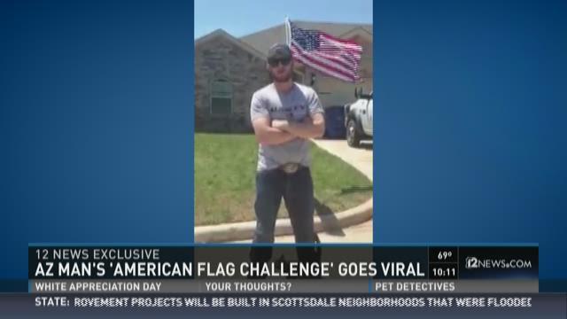 American flag challenge