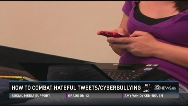 How to combat hateful tweets/cyberbullying