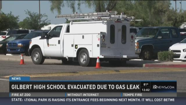 Gilbert High School Evacuate Due to Gas Leak