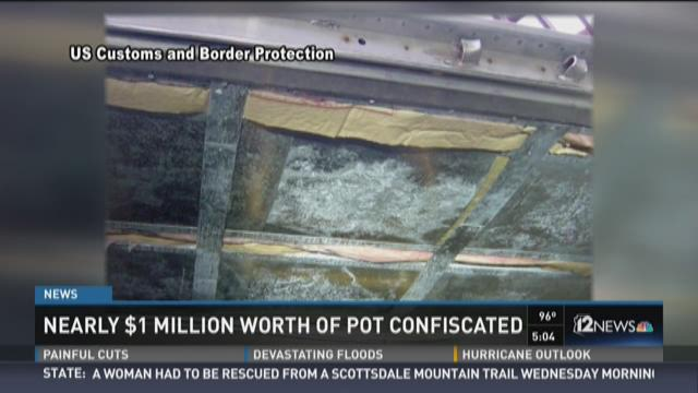 Nearly $1M worth of pot confiscated