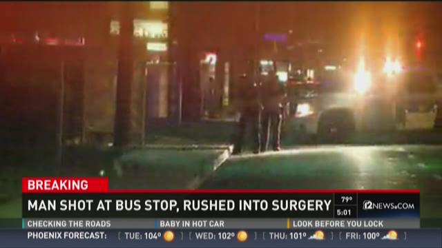 Man shot at bus stop in Phoenix