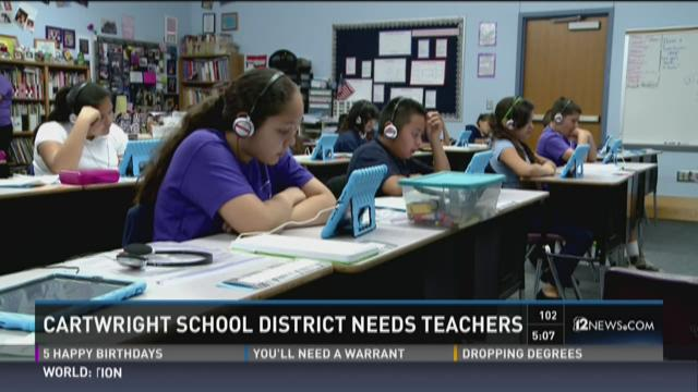Cartwright district desperate for teachers