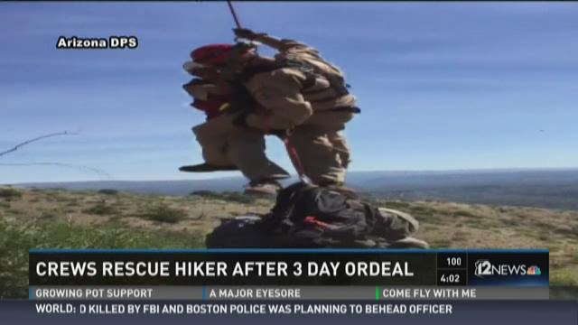 Hiker who'd run out of food, water rescued after 3 days