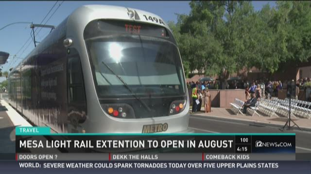 Light rail expansion to open 7 months early