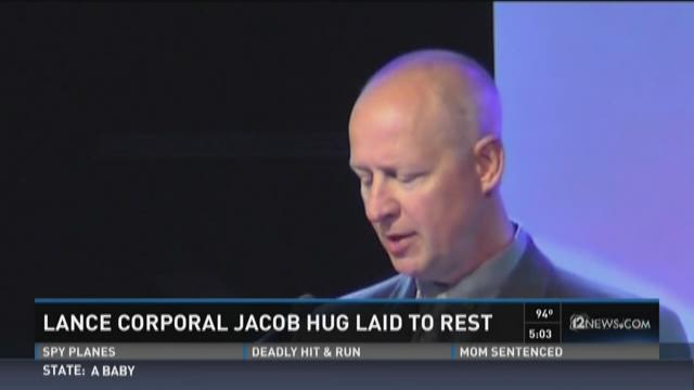 Jacob Hug was laid to rest at the National Cemetery of Arizona for Military. June 4, 2015.