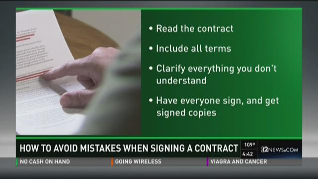 How to avoid mistakes when signing a contract