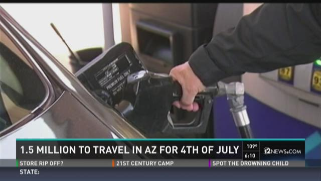 1.5 million to travel in AZ for 4th of July
