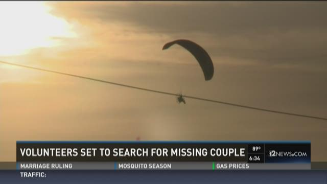 Paraglider joins search for missing Maricopa couple