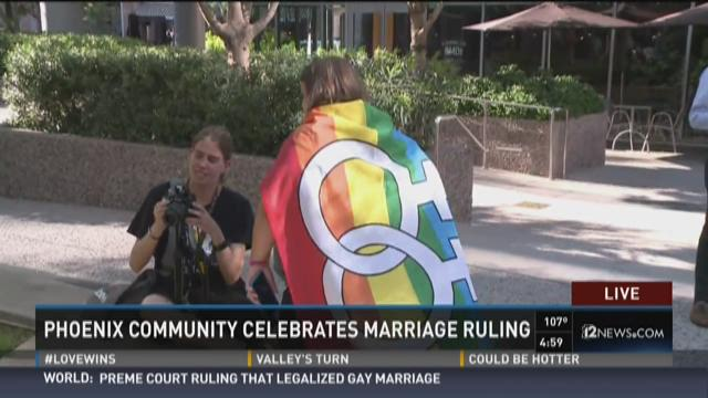 Phoenix community celebrates marriage ruling