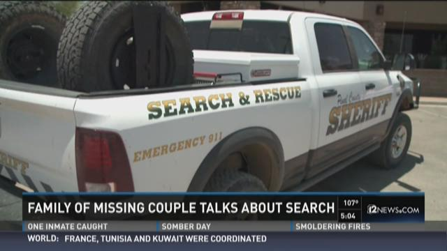 Family of missing couple talks about search