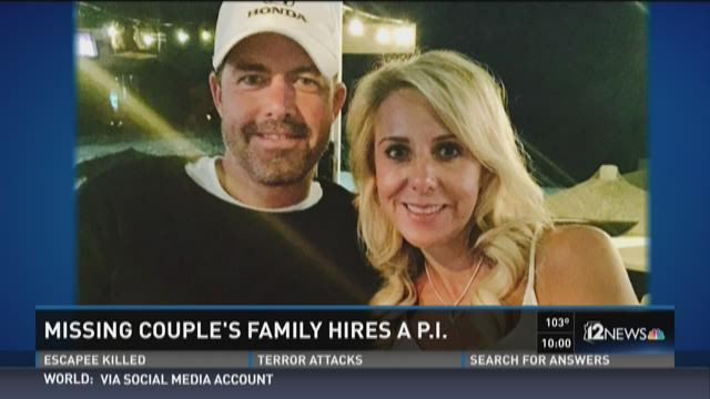 Missing couple's family hires a P.I.