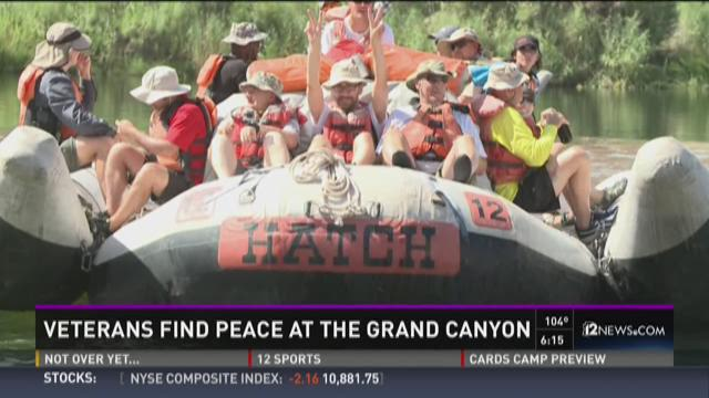 'Canyon Heroes' is providing 18 veterans with a therapeutic trip to the Grand Canyon, July 30, 2015.