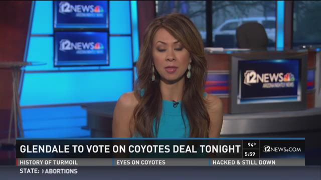 Glendale to opinion on Coyotes understanding tonight