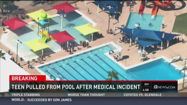 Teen pulled from pool in Phoenix