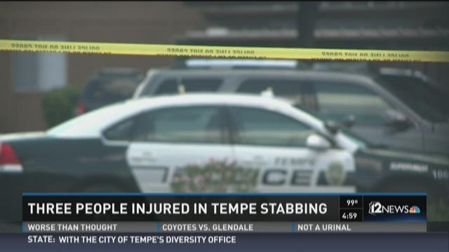 Three people harmed in Tempe stabbing