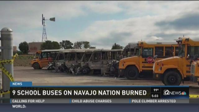 9 propagandize buses on Navajo Nation burned