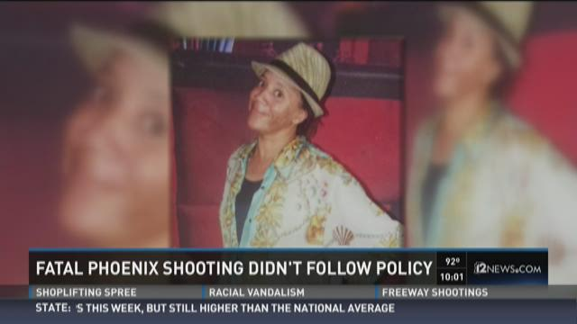 Fatal Phoenix Shooting didn't follow policy