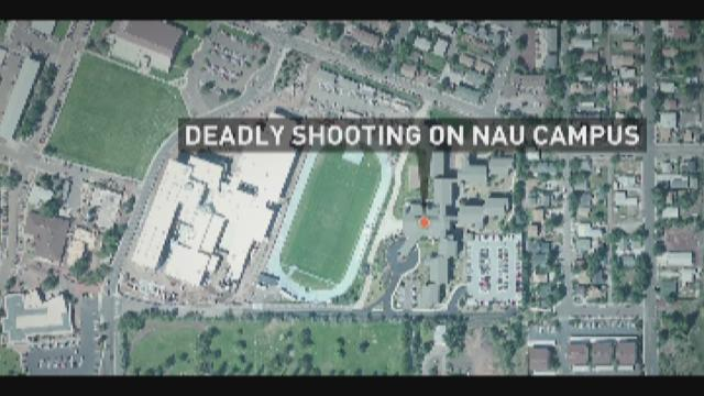 The scene of a deadly campus shooting at Northern Arizona