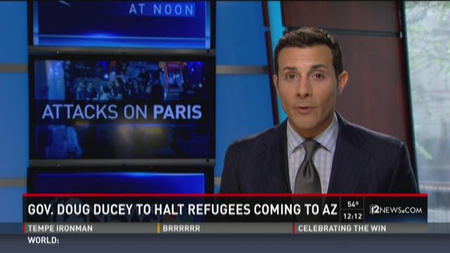 Gov. Ducey to halt refugees coming to AZ