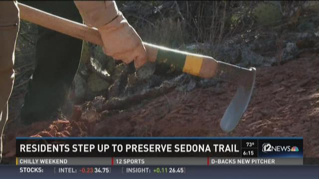 Forest Service workers begin digging on the newest trail to make its way into Sedona books. The Scorpion Trail was partly made possible by the Red Rock Trail Fund.